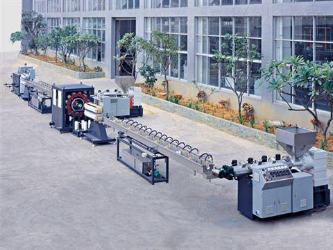 厂家定制pe喷头管设备 精密PE沐浴露管挤出机生产线