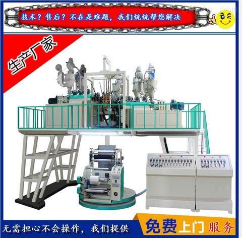 生产厂家专业生产【五层共挤聚丙吹膜机】PP下吹水冷吹膜机