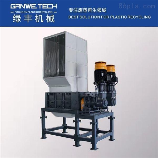 IBC罐桶撕碎再生设备 HDPE工业桶四轴撕碎机