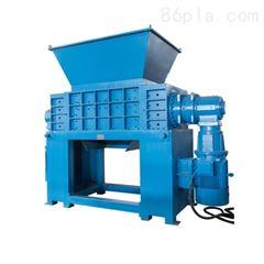 新贝撕碎机厂家推荐 化工蓝桶双轴撕碎机 200L铁桶撕碎处理系统