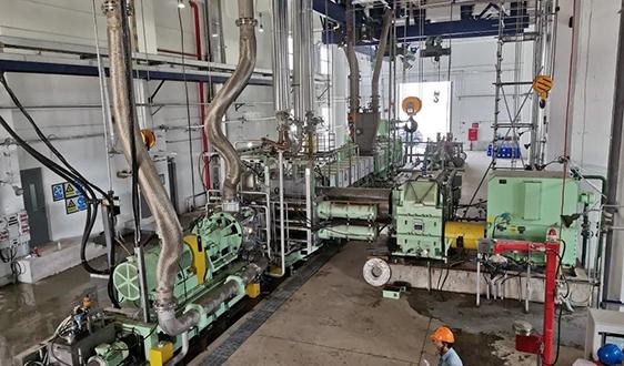 大橡塑研制的20万吨/年聚丙烯挤压造粒机组在天津石化试车成功