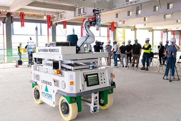 現代機器人發布建筑工地錨定機器人系統